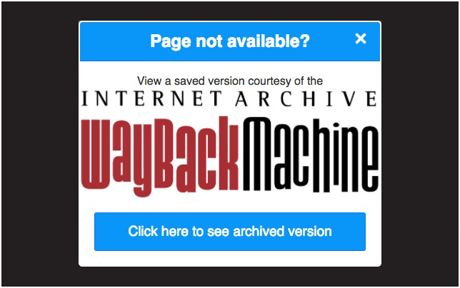 Wayback Machine browser extension