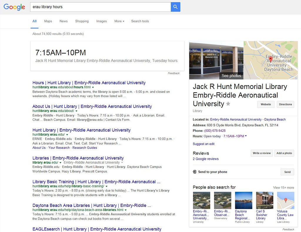 Google Knowledge Graph in Search Results