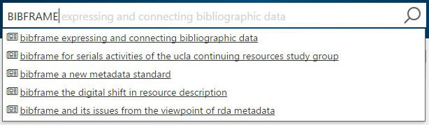 Microsoft Academic search: BIBFRAME