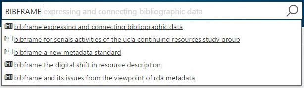 Microsoft Academic search: BIBFRAME