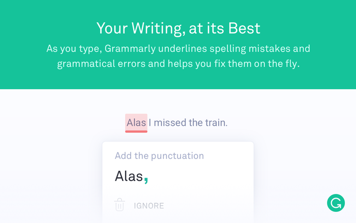 Grammarly for Firefox browser extension