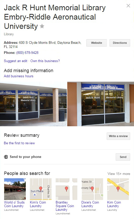 Google Knowledge Graph (Before)