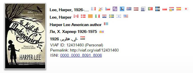 VIAF Authority Record for Harper Lee
